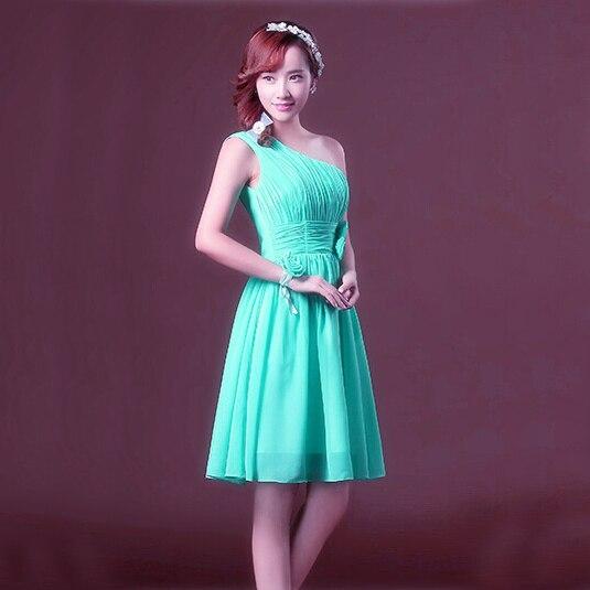 turquoise short size chiffon