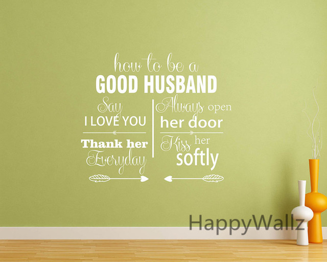 Online Shop How To Be A Good Husband Love Quotes Wall Stickers ...