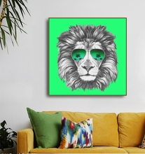 Watercolor Lion Animals Canvas Calligraphy & Painting Decoration Pictures Posters For House Living Room Bedroom Home Wall Art