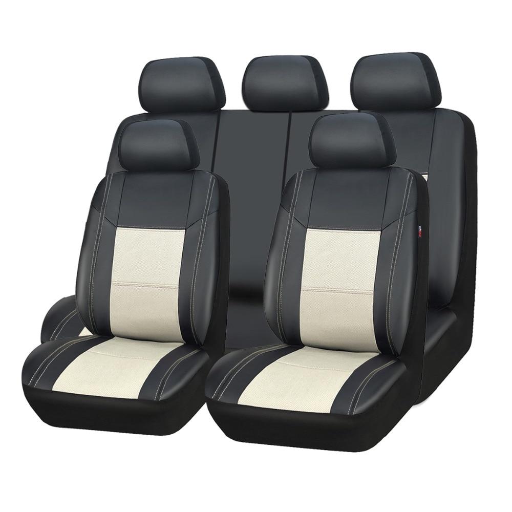 Car seat covers fit Skoda Rapid black//grey  leatherette full set