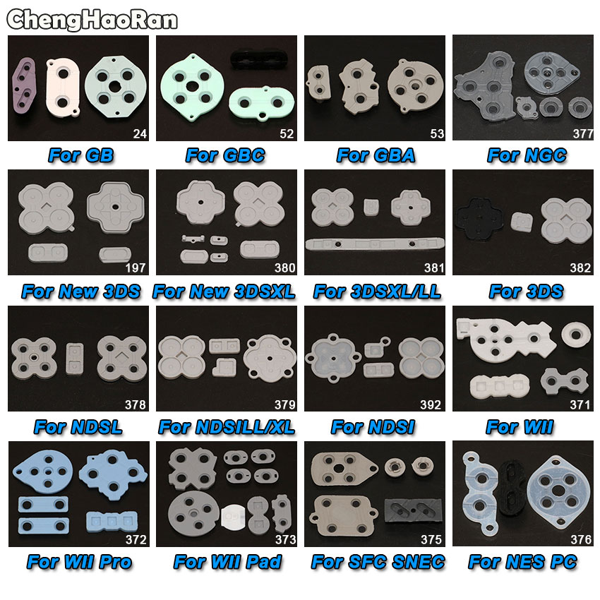 ChengHaoRan For GB GBC GBA SP GBP Silicone Conductive Rubber Buttons A-B D-pad For 3DS XL LL NEW 3DS NDSL NDSIXL LL NGC SFC(China)