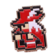 Final Fantasy 1 NES 8-Bit Enamel Pin Mage Merah Topi Bros Retro Video Game Lencana 80-An Nostalgia nintendo Penggemar Hadiah(China)