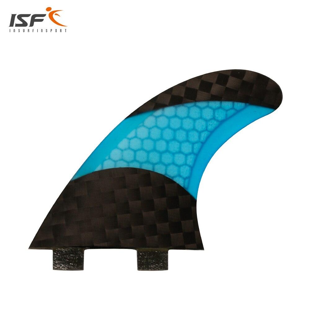 ISF nuevo diseño de cuadrícula panal de fibra de carbono aletas de surf FCS quilhas FCS hélice pranchas de surf aletas S/ m/L 3 unidades