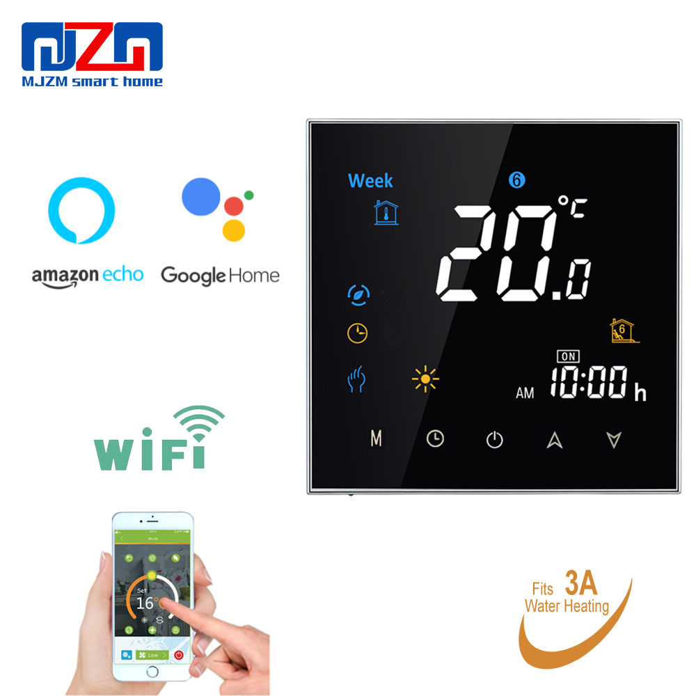 MJZM 3A 3000 WiFi Thermostat Temperature Controller for Warm Floor Alexa Google Home Control Smart Thermostat