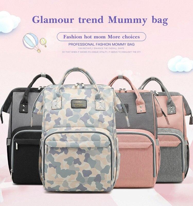 HTB1.Ik7Q3HqK1RjSZFgq6y7JXXar Fashion Mummy Maternity Diaper Bag Large Nursing Bag Travel Backpack Designer Stroller Baby Bag Baby Care Nappy Backp