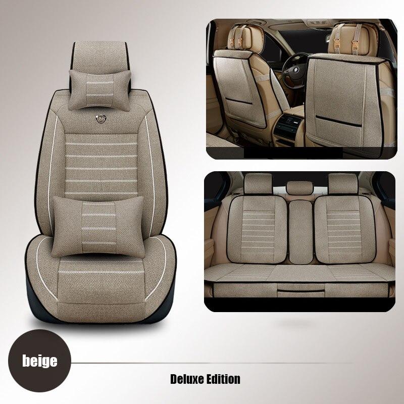 kətan Universal avtomobil oturacağı örtüyü Buick vw üçün - Avtomobil daxili aksesuarları - Fotoqrafiya 2