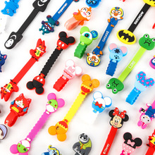 100pcs/lot 2016 New Cartoon Model Headphone Cord Holder Earphone Cable Wire Organizer USB Charger Winder Best Gift