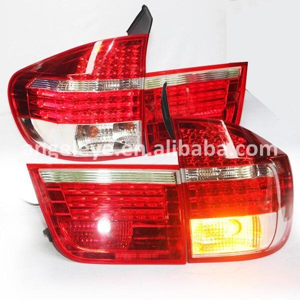 2007 2010 год для BMW X5 E53 LED Задние огни красного цвета
