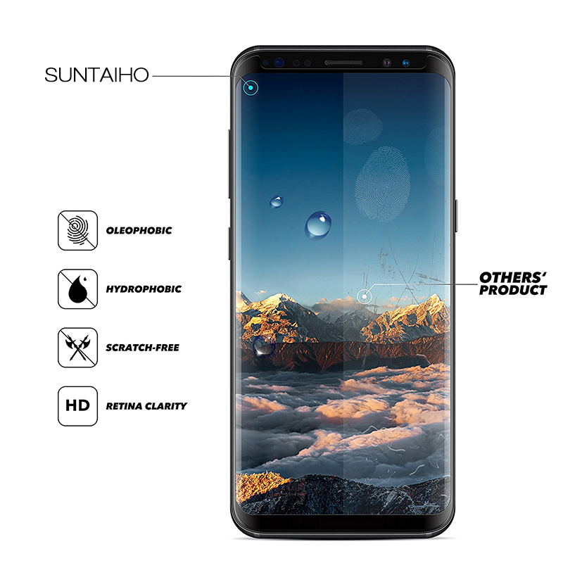 Image 2 - Suntaiho For Samsung S9 Screen Protector S10 A50 A30 Glass For Samsung Galaxy S8 S9 Plus Note9 S7 edge note 8 9H Protective Film-in Phone Screen Protectors from Cellphones & Telecommunications