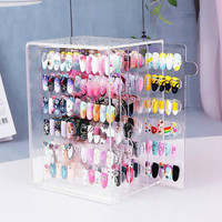 New 5 layer 60 grid detachable Pop Sticks Nail Art Clear Tips Display Stand Nail Polish Practice Training Tool Color Swatches