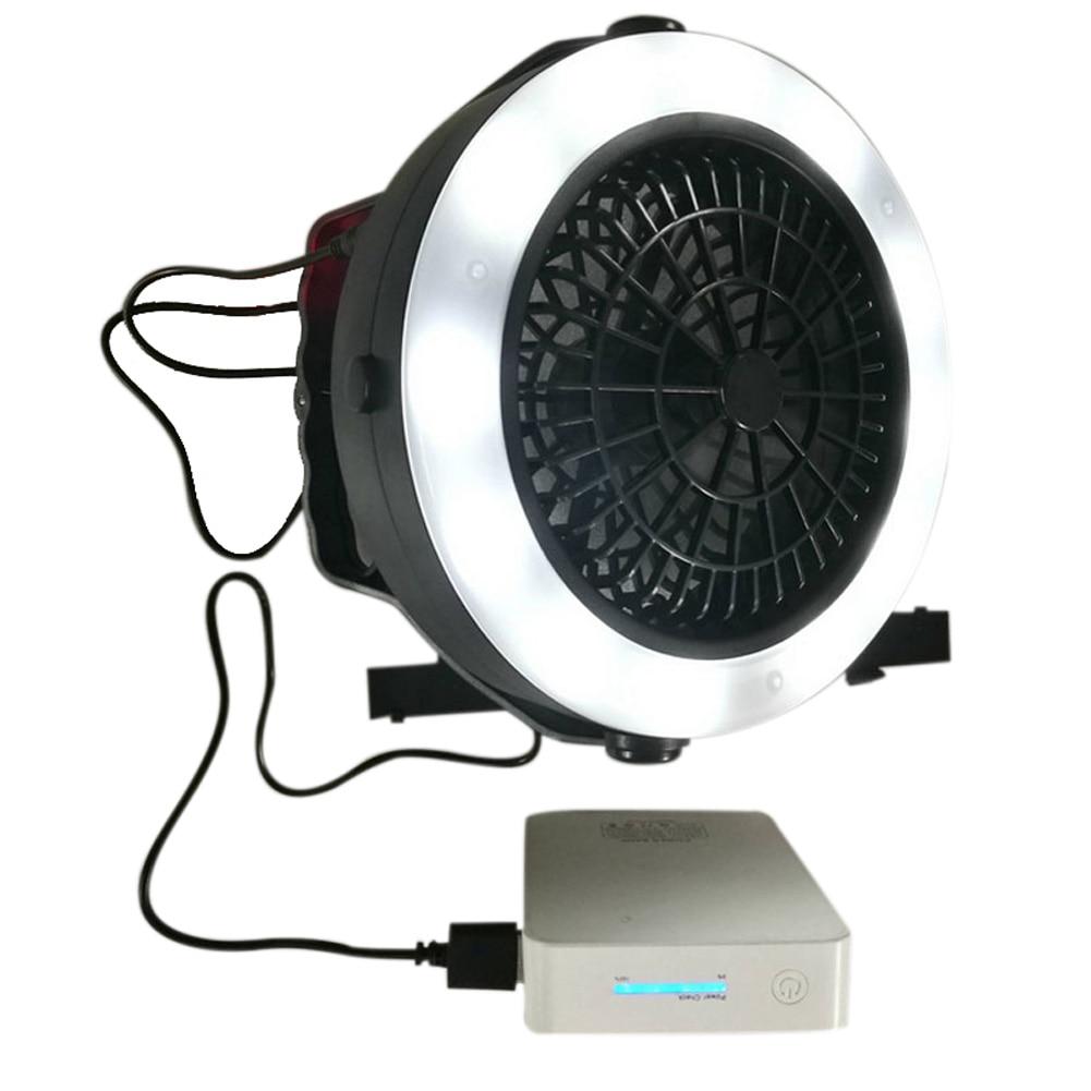 Portable 3 dans 1 Rechargeable USB LED Fan Lumière Tente Lampe Lanterne Avec Crochet pour Camping En Plein Air Randonnée-M25