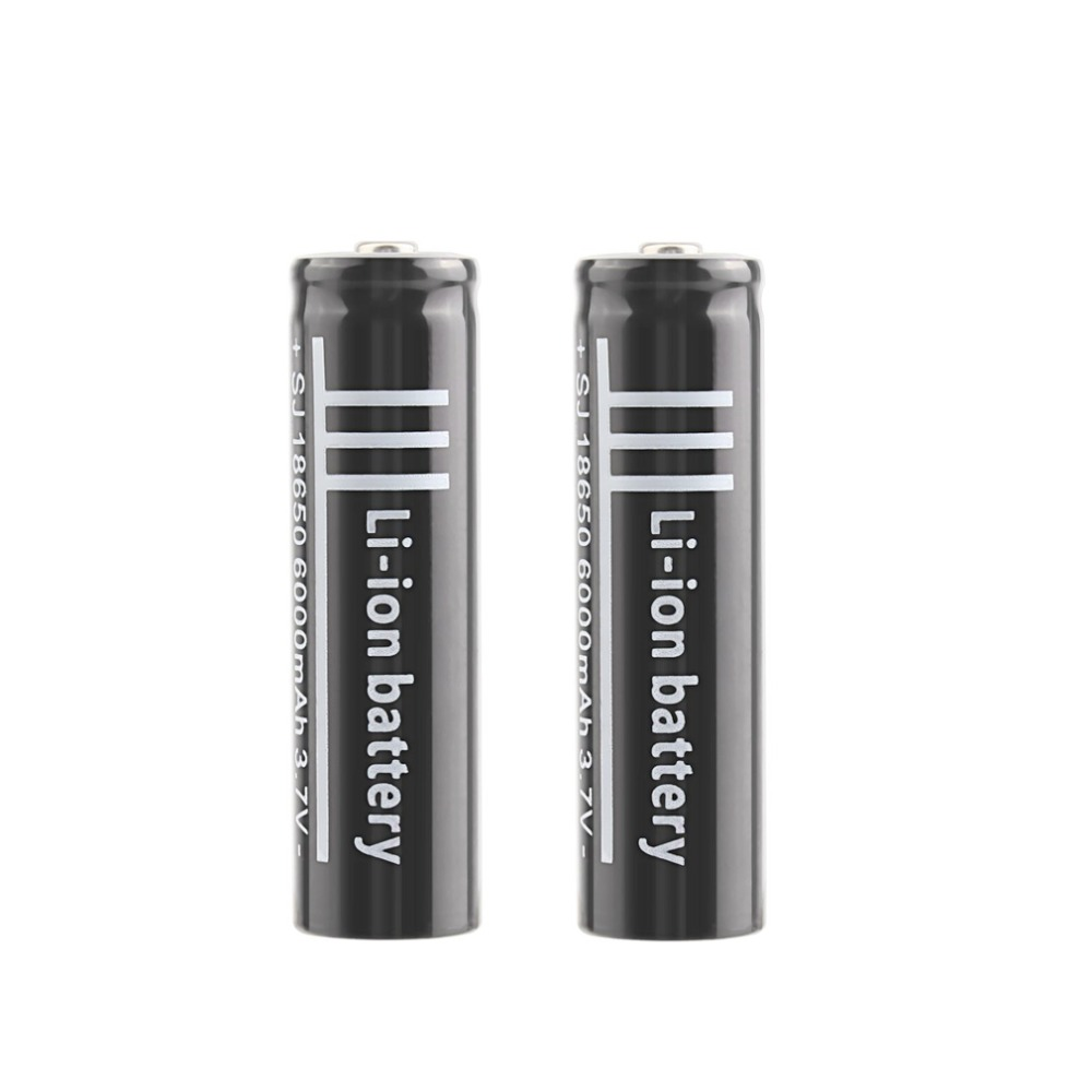 2pcs/lot <font><b>18650</b></font> <font><b>3.7V</b></font> <font><b>6000mAh</b></font> Polymer Lithium Battery Li-ion Rechargeable Battery for Flashlight Torch Industrial Equipment Using image