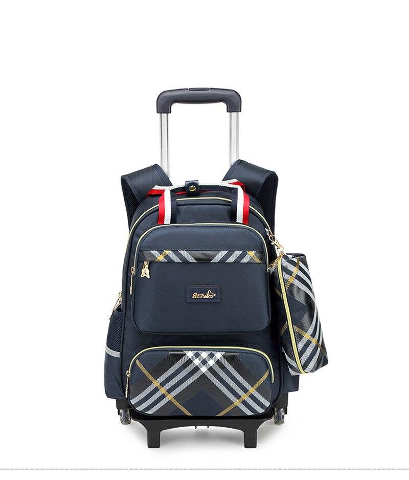 Sac à dos Trolley étanche garçons filles enfants sac d'école roues sac de voyage sac à dos enfants roulant des cartables détachables-in Sacs d'école from Baggages et sacs    1