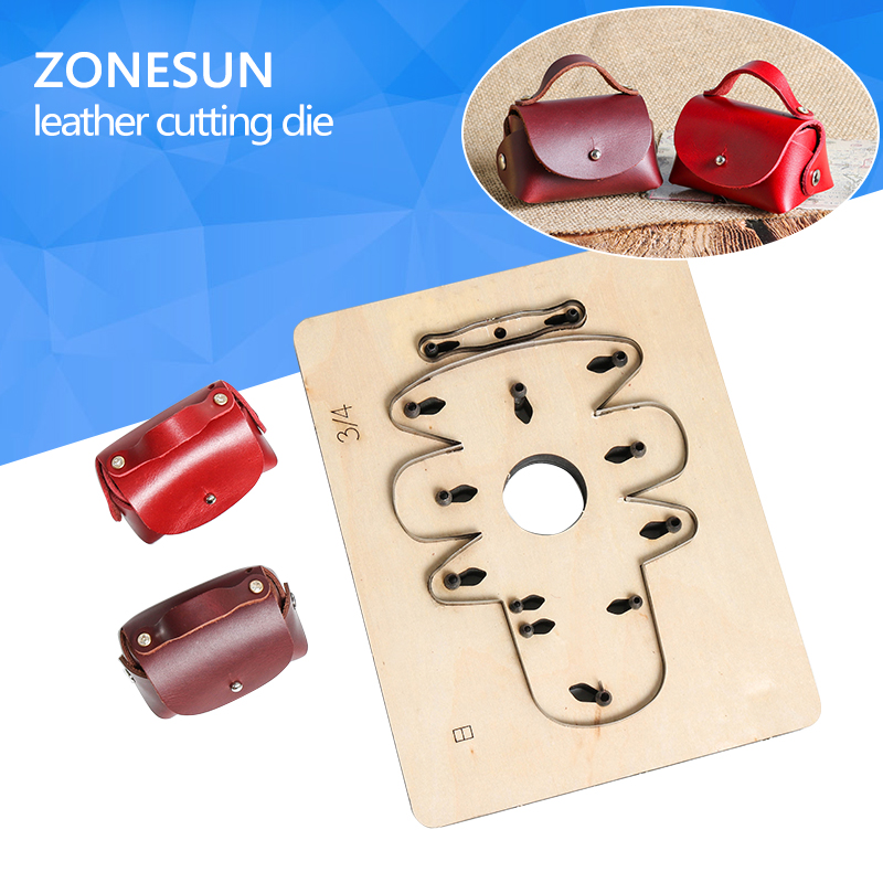 ZONESUN AHS Customized handbag shape leather coin holder cutting die bag pendant wallet cut mold DIY leather cutting knife die diy lattice pattern carbon steel cutting die