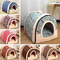 Chien de compagnie lit maison chenils pour animaux de compagnie pour chatons Portable voyage panier sacs cama perro hondenmand panier chien legowisko dla psa