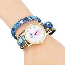a1f2808a14a Dream Catcher Mulheres Relógios Strass relógio de Quartzo Relógio de  Senhoras Da Forma Do Vintage Feminino