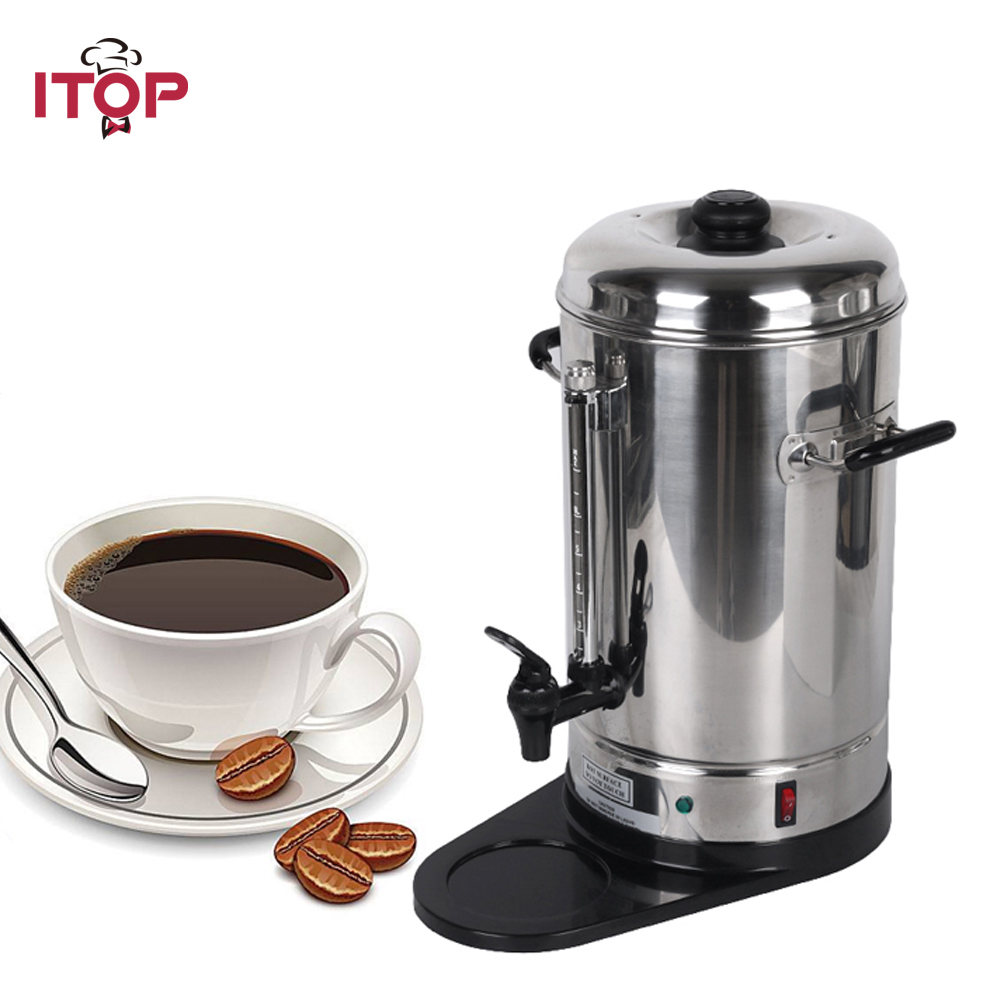 все цены на ITOP New Arrival Automatic 6L Coffee Maker commercial household Espresso coffee machine for party онлайн
