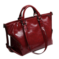 5) Women PU bag portable shoulder bags cross body Wine