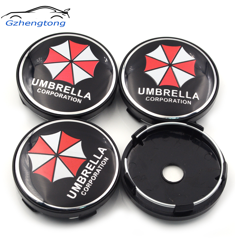 Gzhengtong 4pc/lot 60mm Umbrella Symbol Car Wheel Center <font><b>Caps</b></font> <font><b>Hubs</b></font> <font><b>Caps</b></font> Emblem For <font><b>BMW</b></font> Universal image