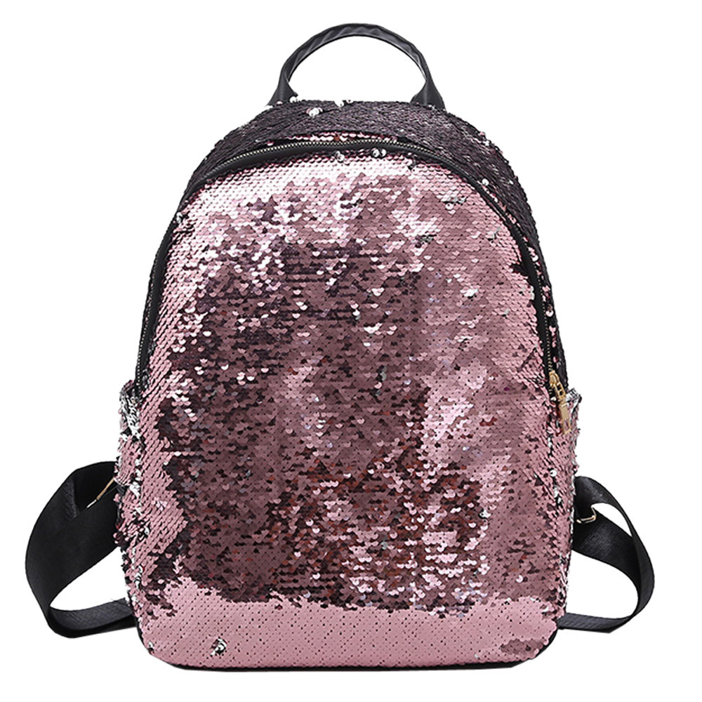 Naivety Fashion Women Girl Sequins School Bag PU Leather Backpack Satchel Student Travel Zipper Shoulder Solid Bags A10 AP18Naivety Fashion Women Girl Sequins School Bag PU Leather Backpack Satchel Student Travel Zipper Shoulder Solid Bags A10 AP18