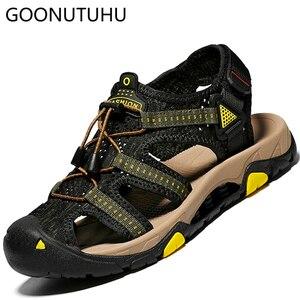 Модные мужские сандалии Повседневная Новая Летняя обувь 219 Мужские дышащие пляжные сандалии размер 38-45 мужские легкие сандалии для улицы