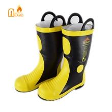 Китайские термостойкие резиновые противопожарные сапоги для защиты пожарного