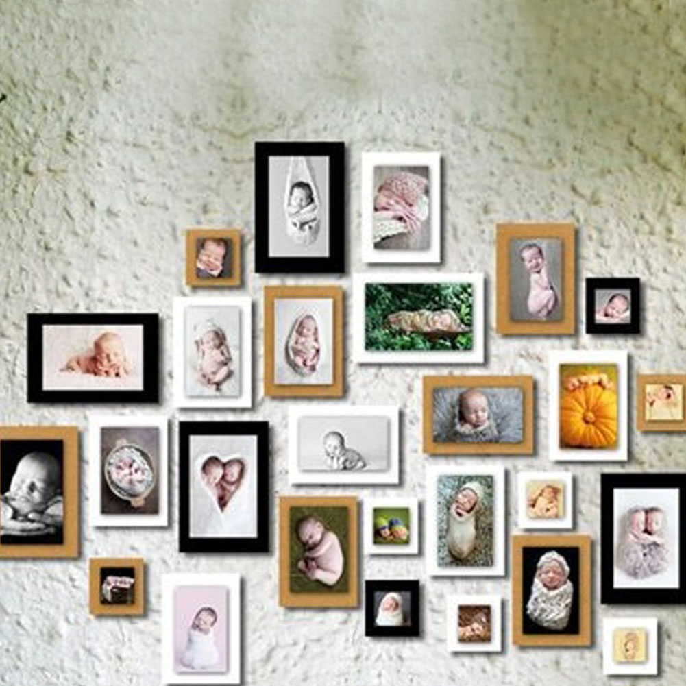White And Red Decorating Colors For Wall Decor With Picture Frames