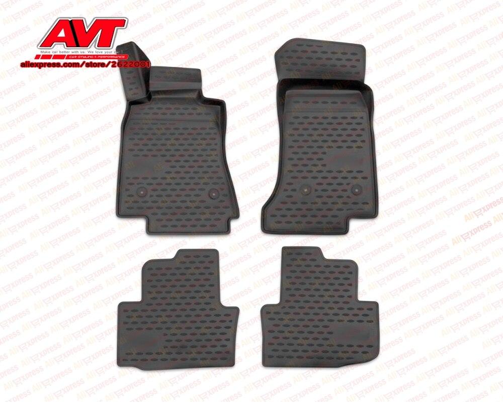 Коврики для Cadillac ATS 2013 4 шт резиновые коврики Нескользящие резиновые интерьерные аксессуары для стайлинга автомобилей