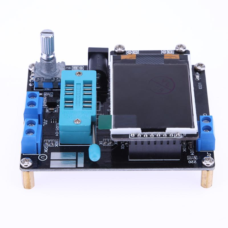 Latest LCD GM328A DIY Kits Transistor Tester Diode Capacitance ESR Voltage Frequency Meter Square Wave Signal Generator