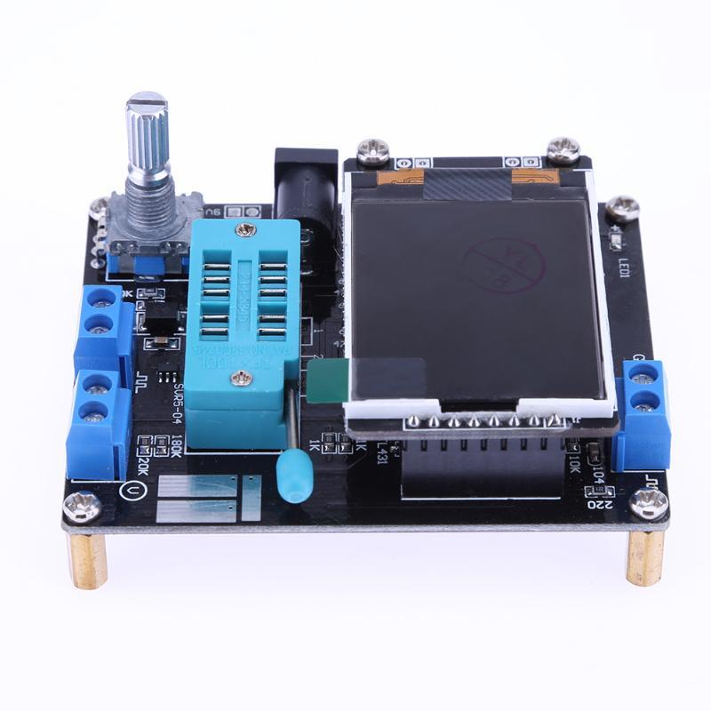 Neueste LCD GM328A DIY Kits Transistor Tester Diode Kapazität ESR Spannung Frequenz Meter Platz Welle Signal Generator