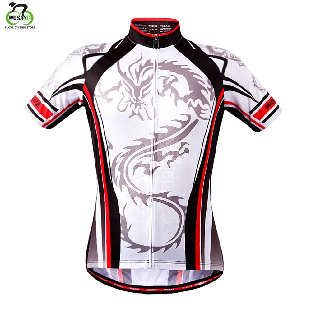 WOSAWE Dragon Cycling Jersey Kortermet Racing skjorte Sykkel MTB Bike Jersey Top Wear Outdoor Sports Clothing Ropa Ciclismo