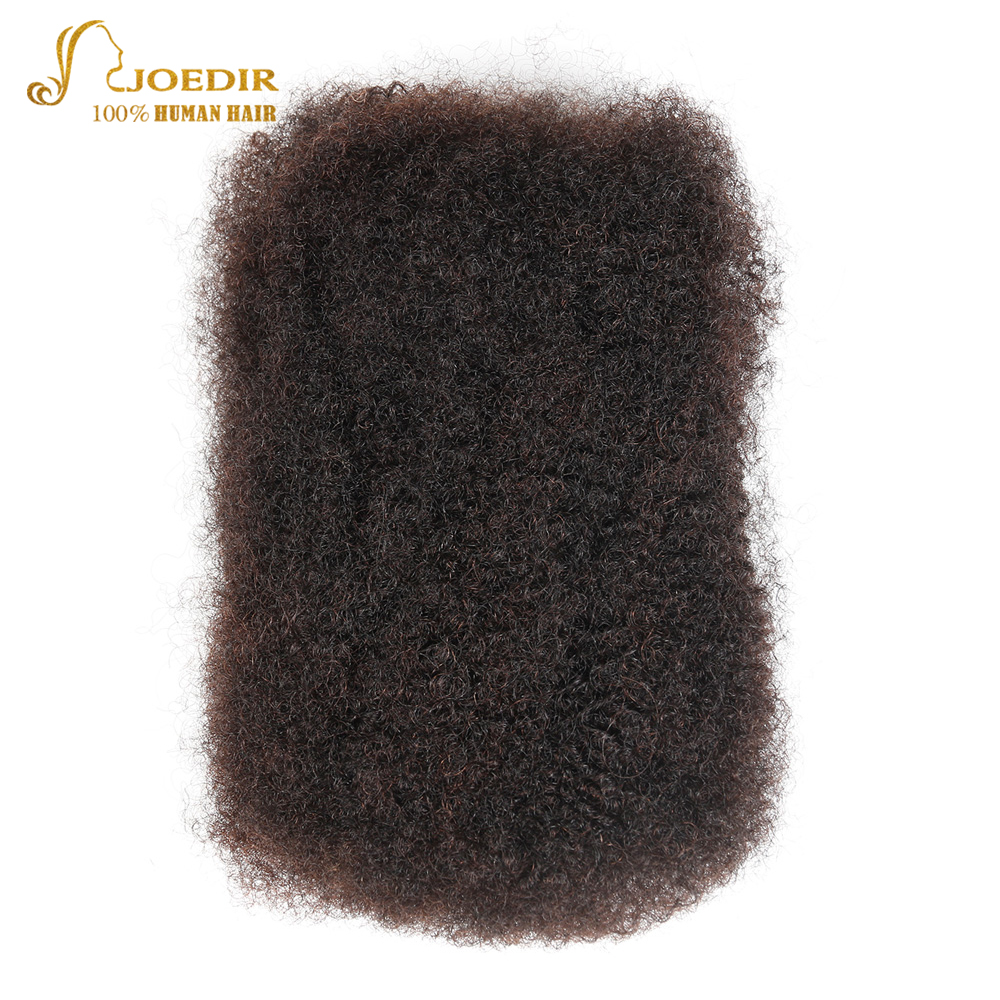 Joedir Brazilian Remy Human Hair Extensions Afro Kinky Bulk 1 Pc Deal 50g/pc Hair Crochet Braiding Hair For Black Women