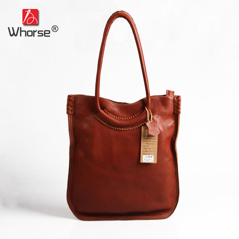 Top Quality Vintage Casual Hobo Tote Bag Real Cowhide Womens Genuine Cow Leather Handbag Shoulder Messenger Bags For Women W0925 top quality handmade vintage casual bag genuine leather womens real cowhide designer handbag messenger bags for women w092544