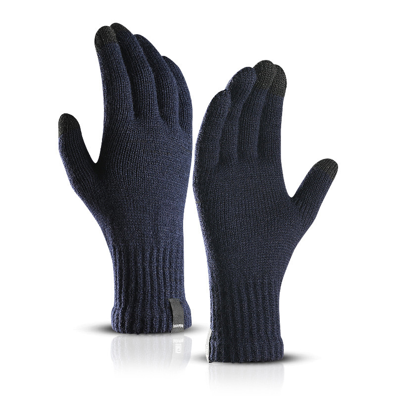 LESOV Woolen Touch Screen Gloves for Men with Highly Sensitive Conductive Fiber on Thumb and Index Finger Works with All Touch Screen Device 11