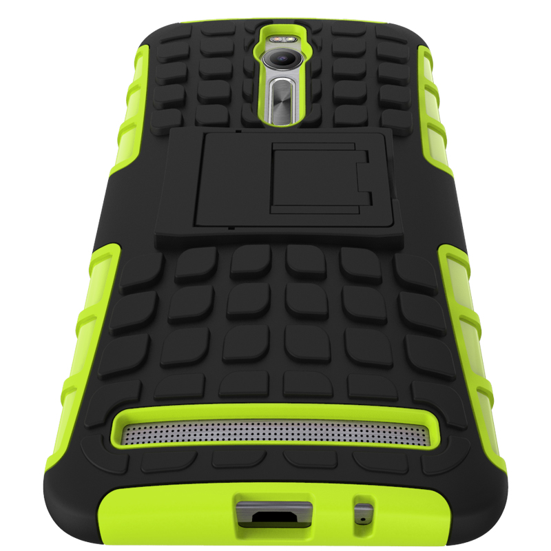 For Asus Zenfone 2 ZE551ML ZE550ML Case Heavy Duty Armor Stand Shockproof Hybrid Hard Soft Rugged Silicon Rubber Phone Cover HTB1
