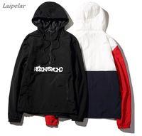 Laipelar anorak jacket windbreaker men jaqueta masculina patchwork jackets hip hop bomber jacket