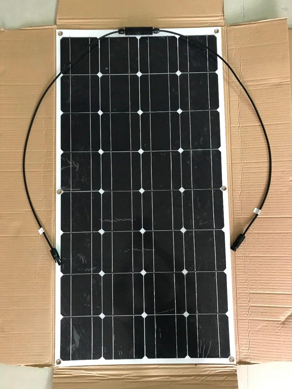 2017 latest 100w efficient solar panels flexible solar panels marine golf carts in solar. Black Bedroom Furniture Sets. Home Design Ideas