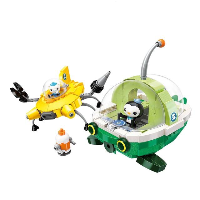 City Les Octopus Octopod Octonauts Cartoon Building Blocks Model Sets Kids Toy