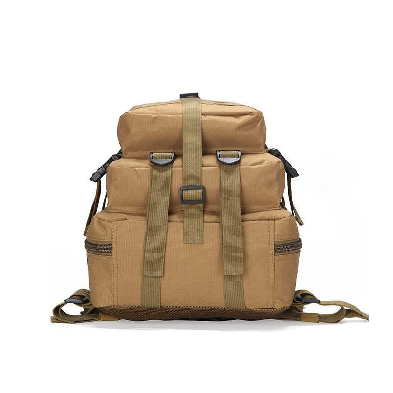 35L Taktis Militer Assault Ransel Tentara 3D Tahan Air Outdoor Tas Besar Ransel Hiking Camping Berburu Trekking Paket Perjalanan