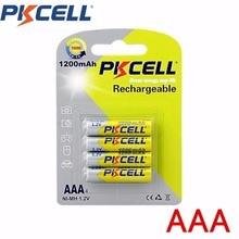 4pcs PKCELL 1200mAh NI-MH Batteries 1.2V Rechargeable AAA Battery Environmental Friendly F