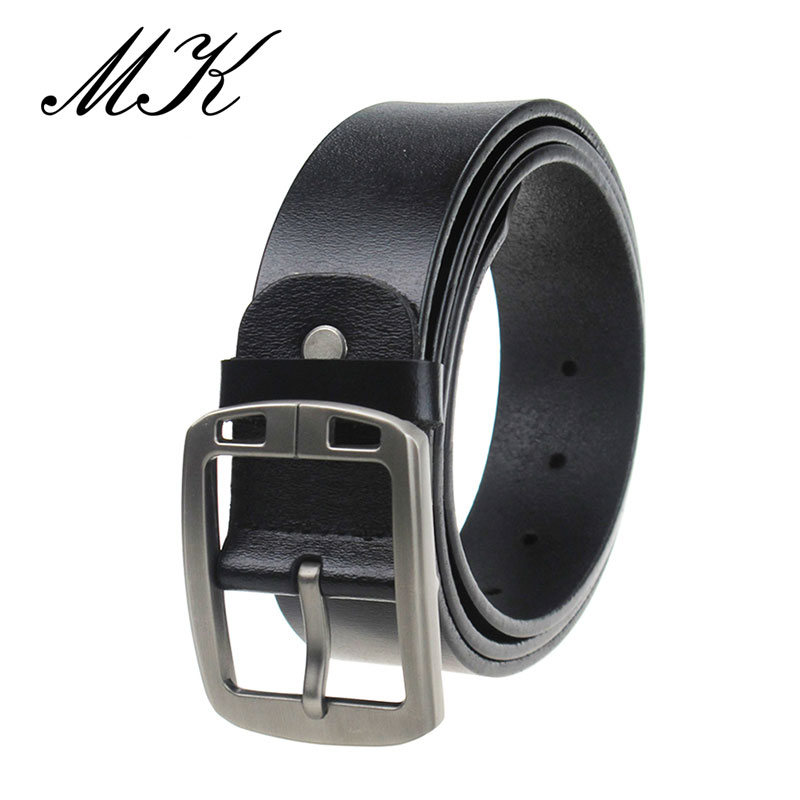 Luxury Leather Belts for Men Luxury Brand Designer Men Belt High Quality Retro Metal Buckle Vintage Jeans Belts in Men 39 s Belts from Apparel Accessories
