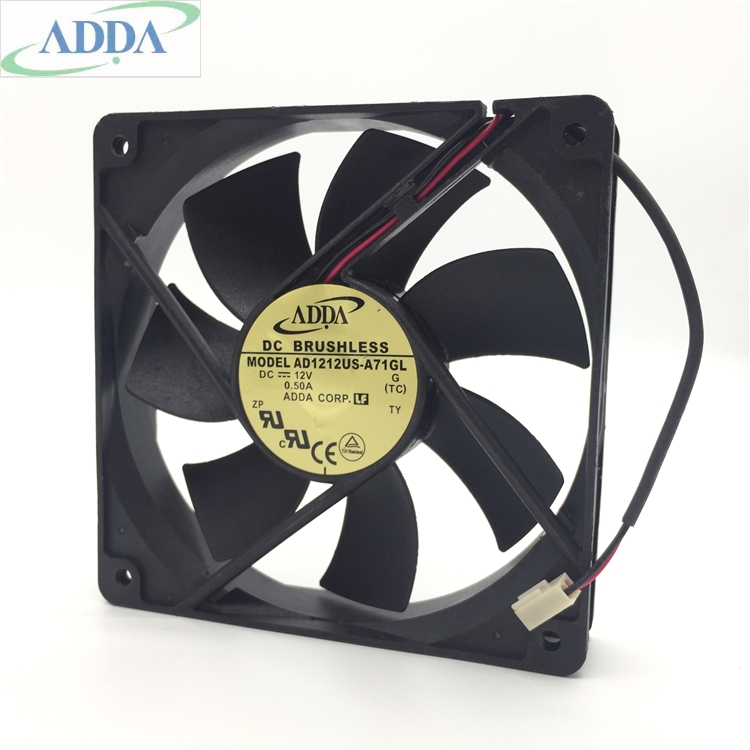 Original FOR ADDA 12V 0.50A 12CM AD1212US-A71GL 12025 Air Volume Chassis Fan Cooling Fan