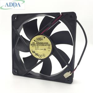 12cm 12V 0.65A AD1212XB-A7BGL 4Wire 120x120x25mm Case Fan 12025