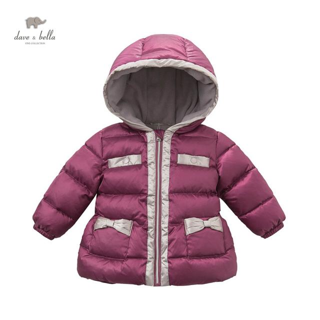 DB3644 DAVEBELLA bebé abajo niños de la chaqueta de invierno ropa de abrigo niños chaqueta de relleno