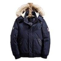 2018 новая зимняя куртка Для мужчин Пальто приталенное с воротником стойкой с хлопковой подкладкой модные брендовые парки куртки верхняя оде