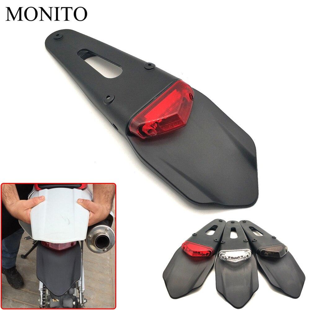Motorcycle Taillight Dirt Bike Rear Fender Brake Stop Led Tail Light For Honda Crf R Crf X Crf X on Crf450x Led Light