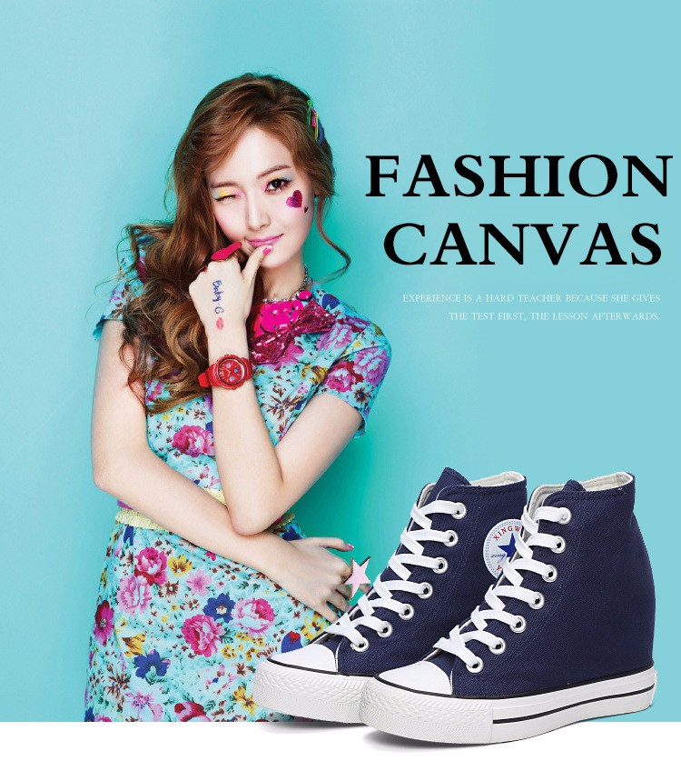 KUYUPP High Top Canvas Women Shoes Espadrilles Spring Autumn Womens Wedges Shoes Lace Up Casual Shoes For Female Sapatilha YD120 (7)