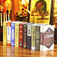 wholesale 10pc decoration wall dies Simple modern Chinese series of simulation books, decorative books, props, model books, phot