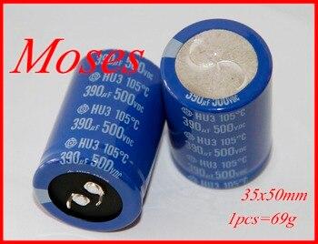 500v 390uf 330uf 100% oryginalny nowy kondensator elektrolityczny pojemność promieniowa 35x50mm (10 sztuk)