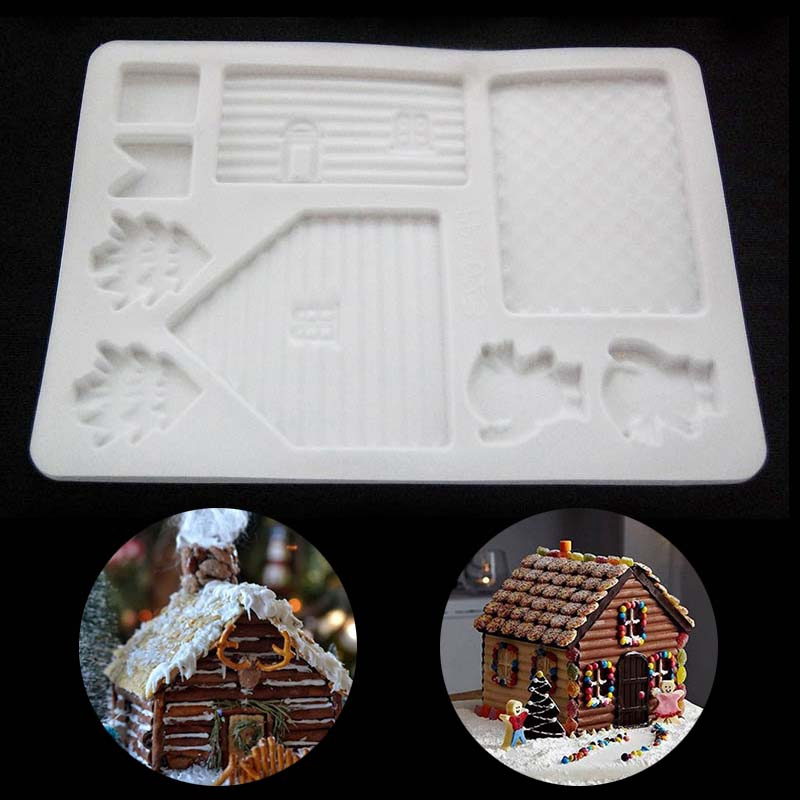 Us 1 21 2018 New Creative Diy Silicone Christmas House Xmas Cake Diy Mold Baking Tools Chocolate Candy Cookies Decor Cake Mold In Cake Molds From